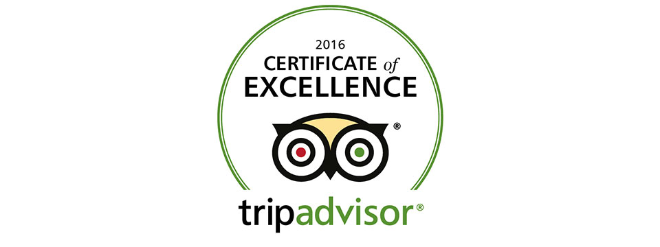 Tripadvisor certificate of excellence received by Dr.Veena's Ayurmantra Centre in 2016