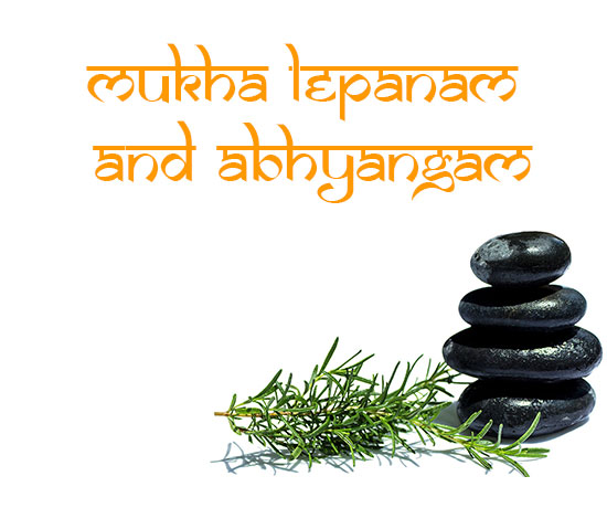 ayurveda treatment mukhalepanam and abhyangam